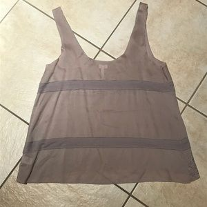 Tops - Gray/Silver Embellished Tank Top
